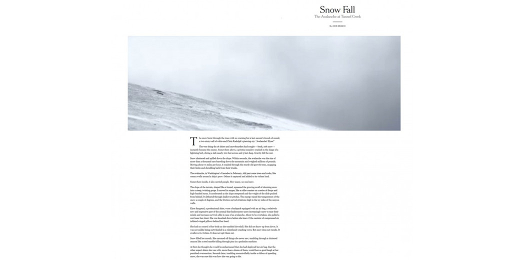 Scrennshot Snow Fall New York Times