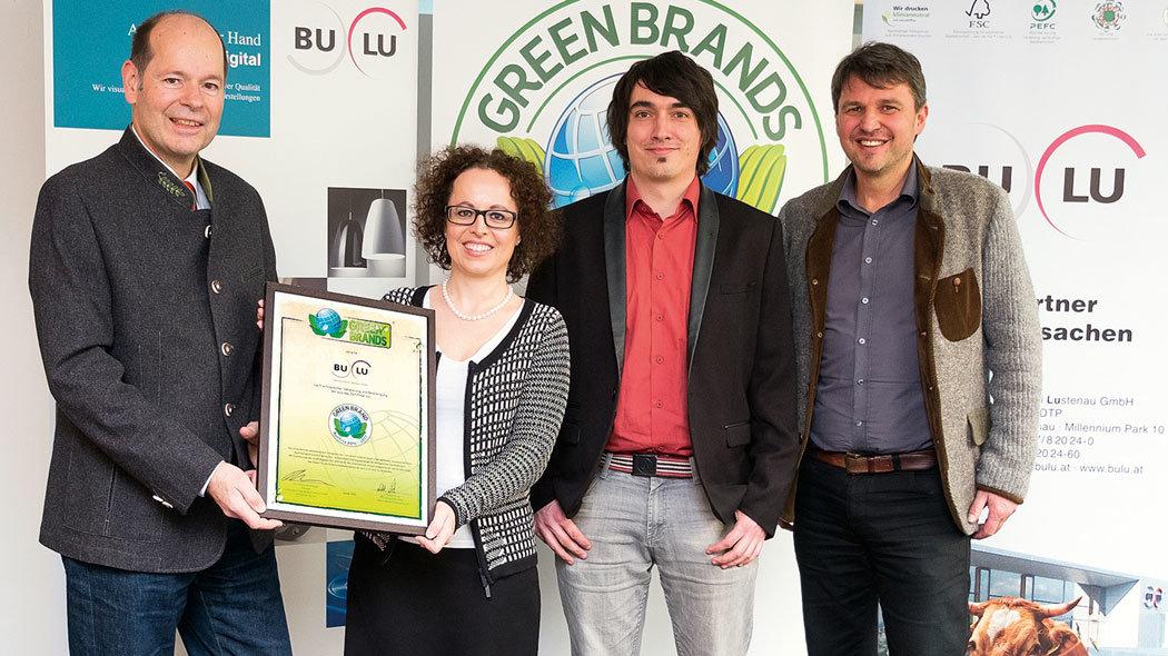 Verleihung Greenbrands für Buchdruckerei Lustenau