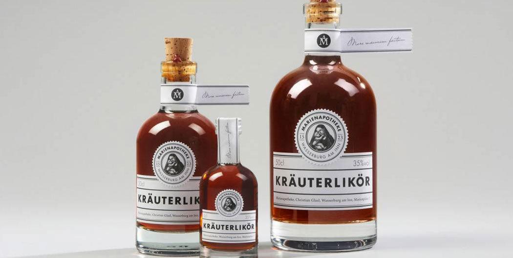 Flaschenetikett, Flaschenhals veredelt