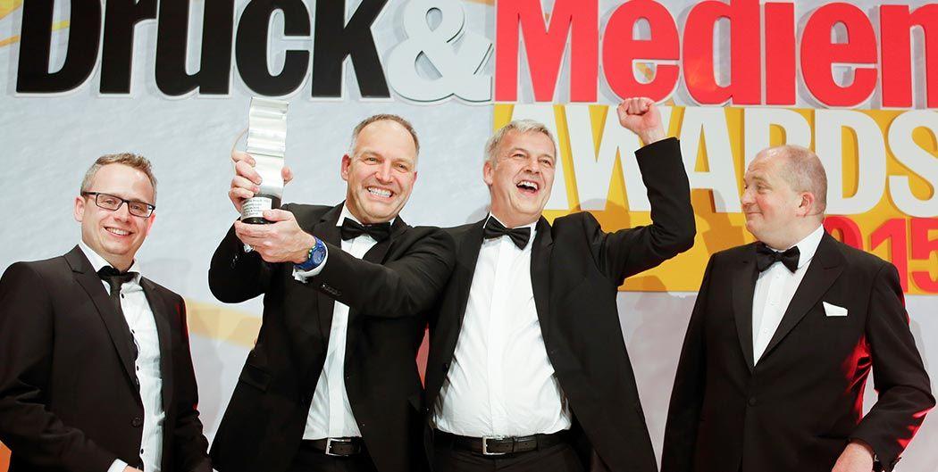 Gräfe-Druck Gewinner als bester Veredler des Jahres.