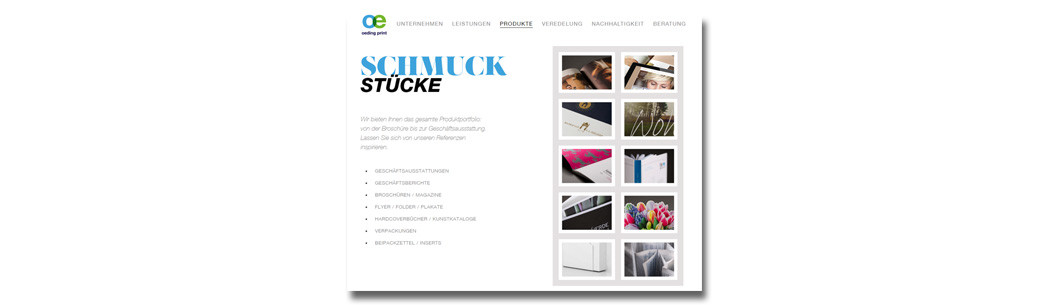Abbildung Website oeding print GmbH