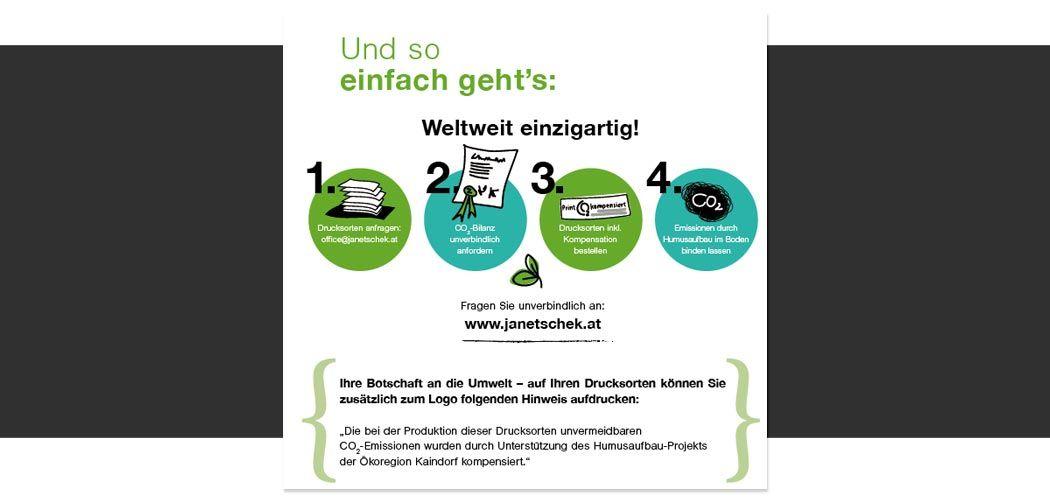 Broschüre Humus-Projekt, Druckerei Janetschek.