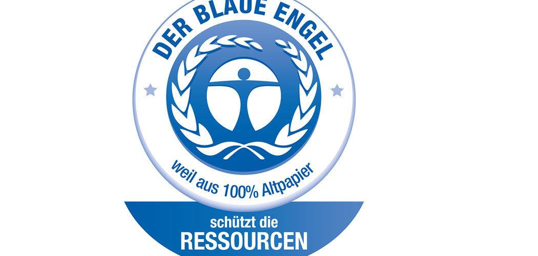 Logo Blauer Engel für Druckereien.