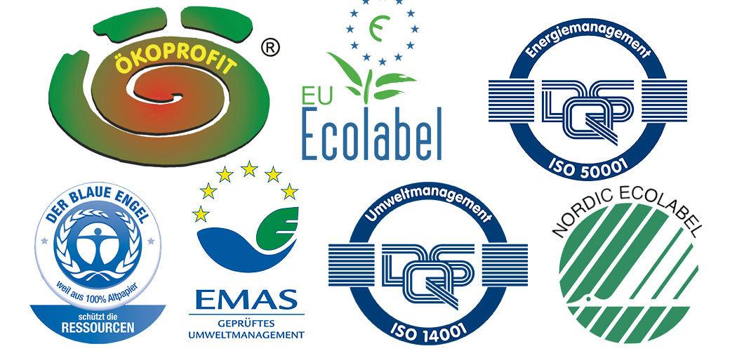 Umweltlabel für Druckereien