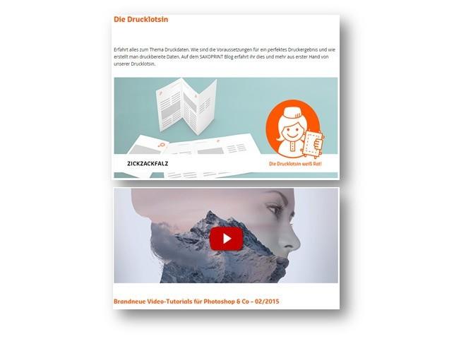 Screenshot Saxoprint Blog