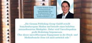 Ursula Heinen-Esser, GPG-Grußwort