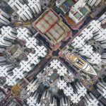 Luftaufnahme Stadt Honkong.