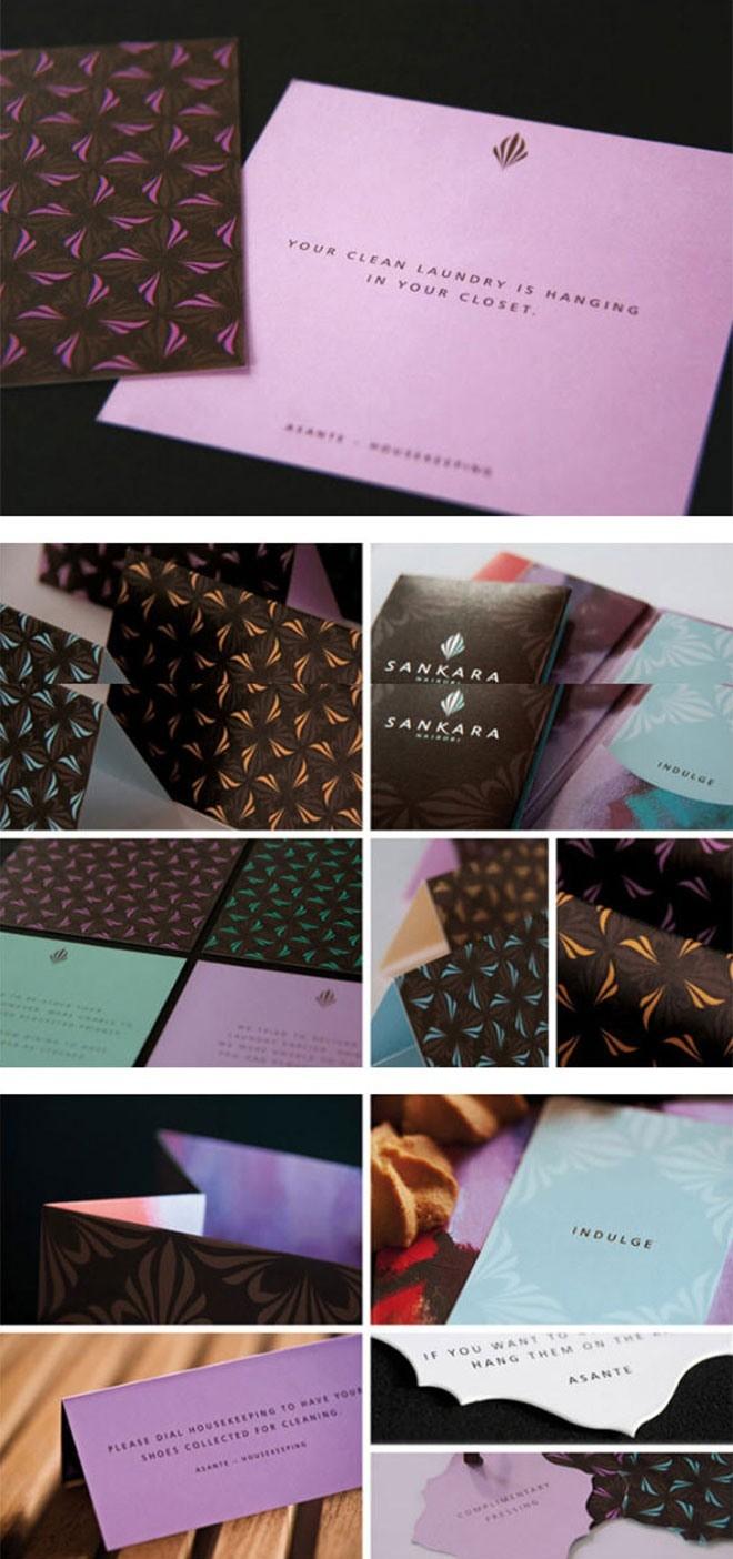 Drucksachen Zebradesign für afrikanisches Luxushotel, Agentur Glazer