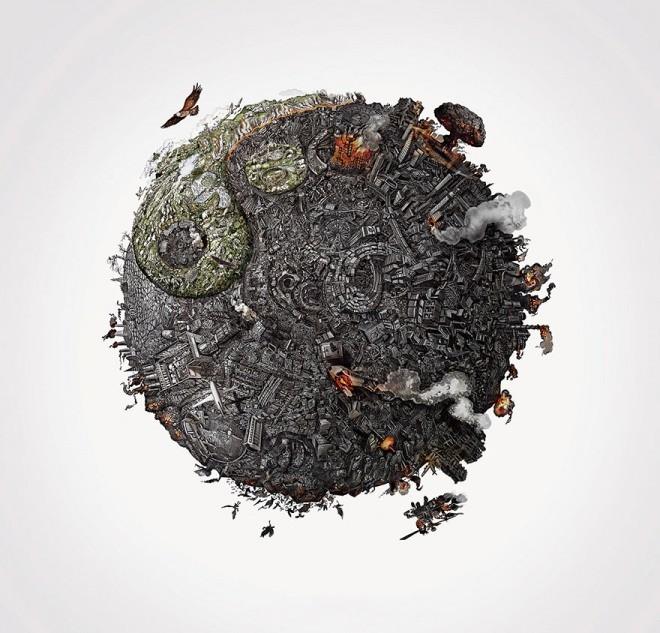 Ying und Yang: Kreatives Bild von Dalip Singh