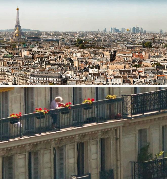 Ausschnitt von Paris-Bild aus Megapixel-Bild