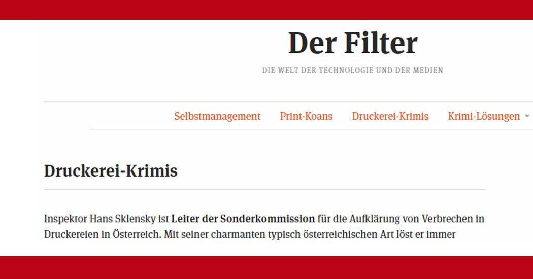 Website Der Filter Screenshot