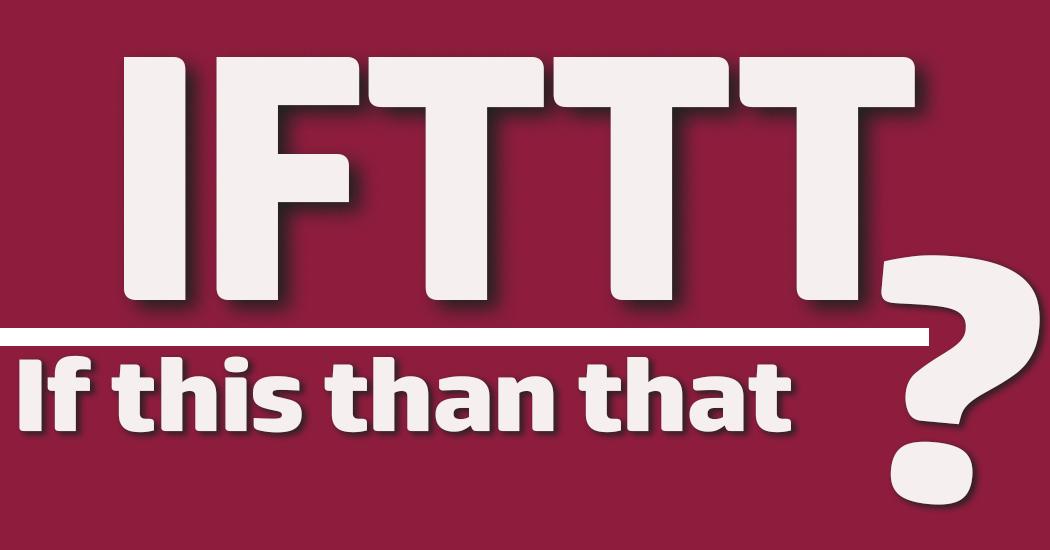 Schriftzug IFTTT