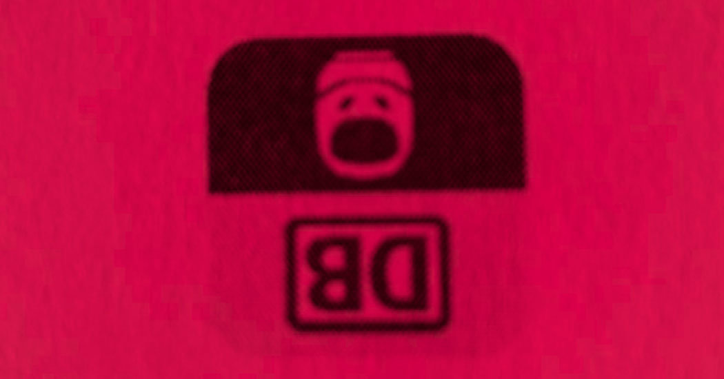 Logo der Deutschen Bahn auf dem Kopf