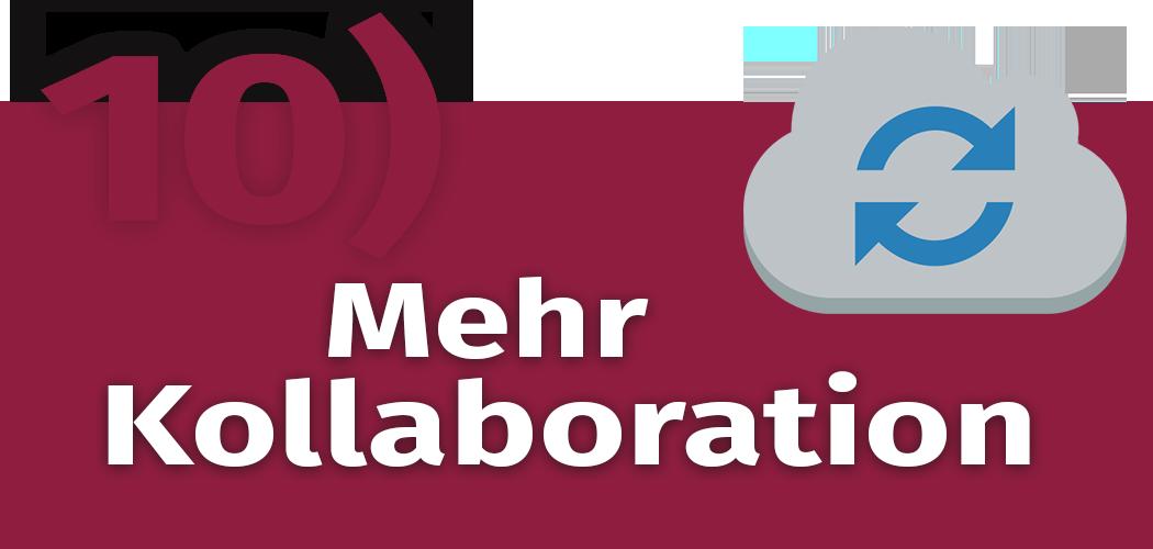 Schriftzug: Mehr Kollaboration im Content-Marketing