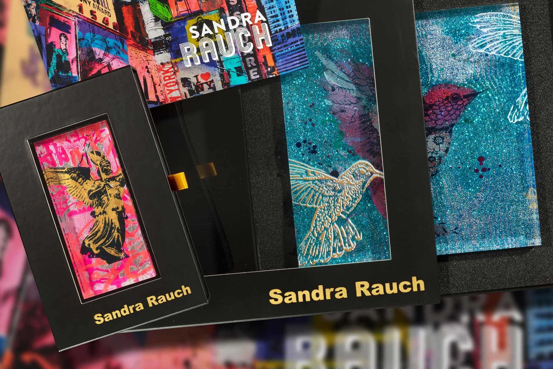 Künstlerin Sandra Rauch im Atelier in Berlin