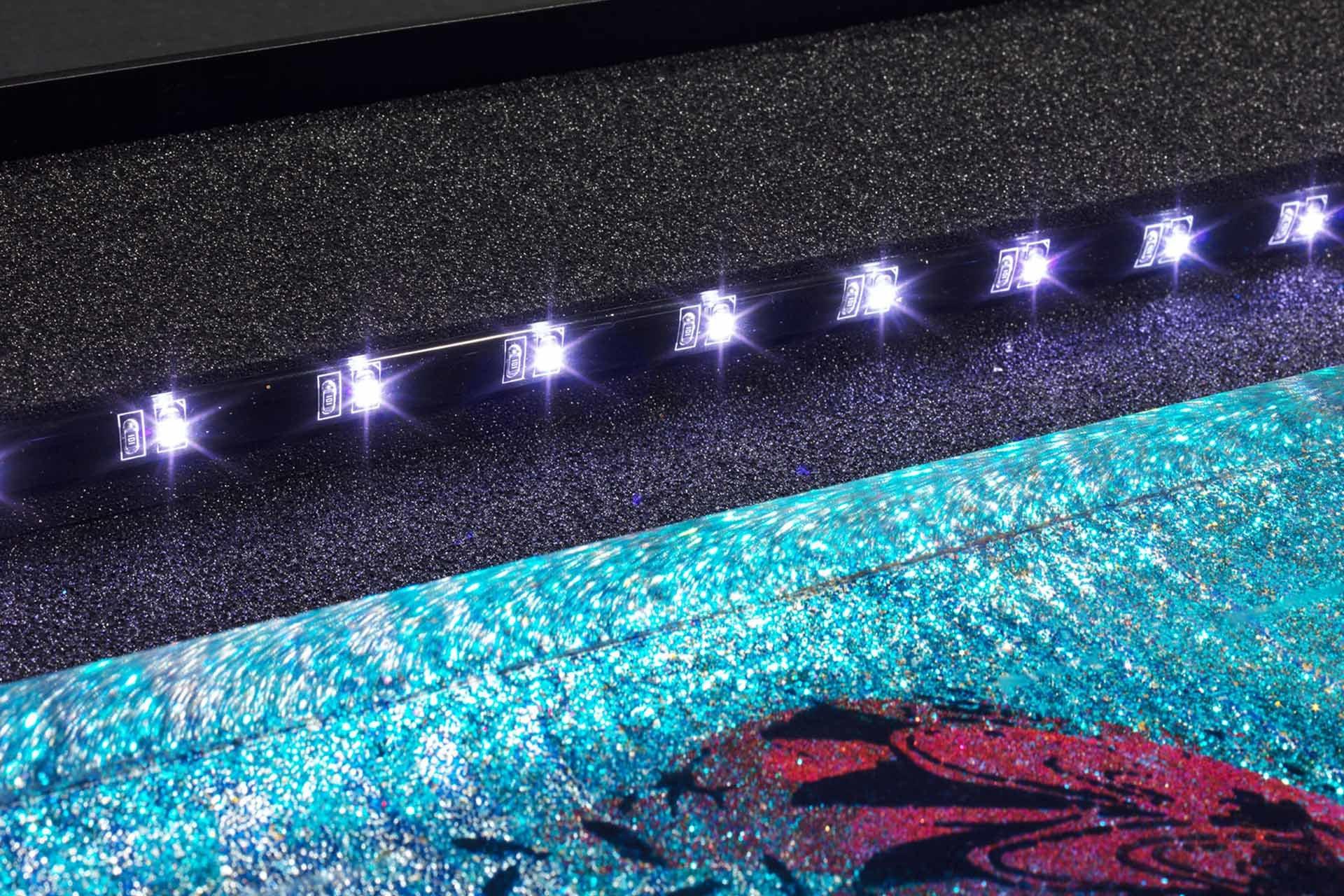 Verpackung Kunstwerke Sandra Rauch mit LED