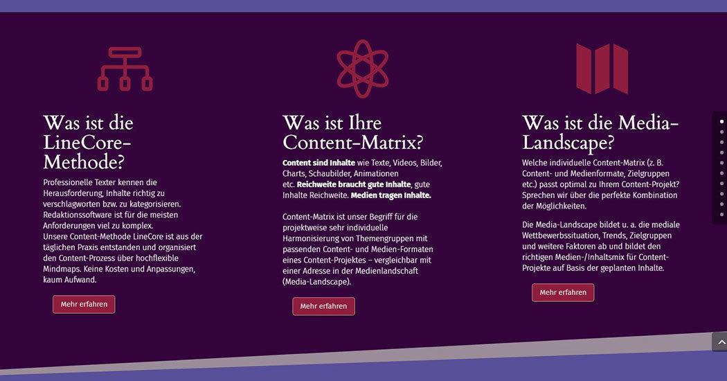 Website-Sceenshot, soulofcontent.de