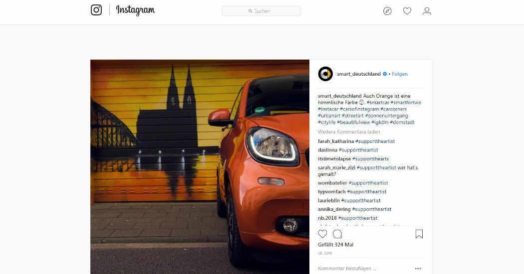 Streetart, Smart-Deutschland