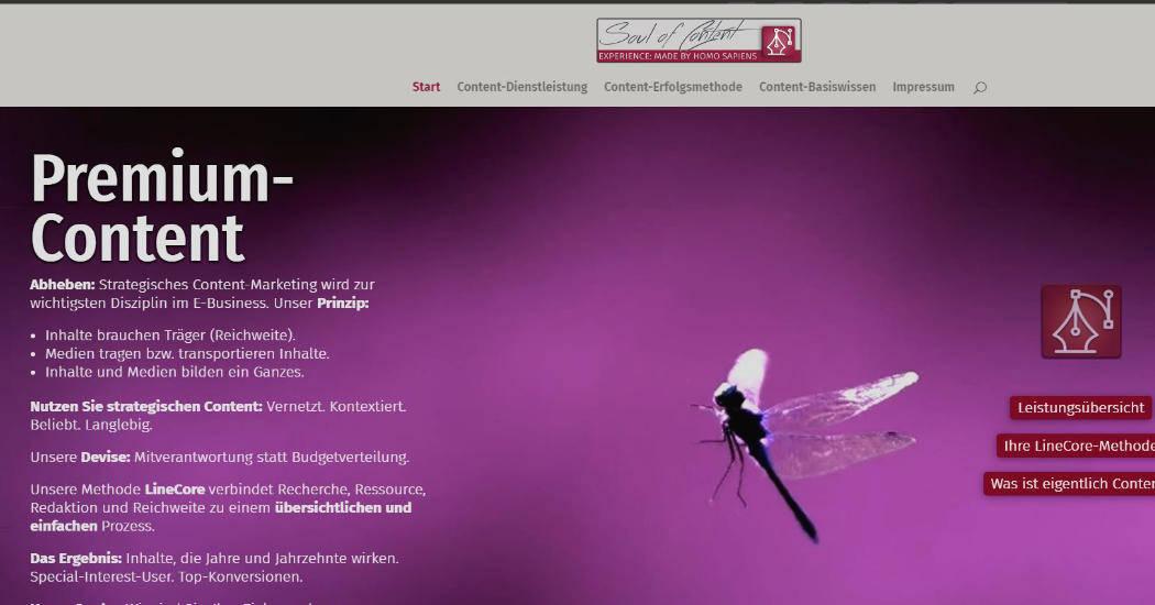 Website soulofcontent.de