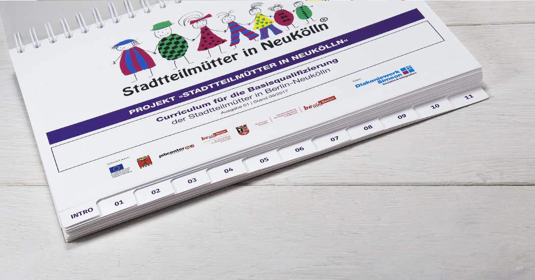 Booklet mit Registerstanzung