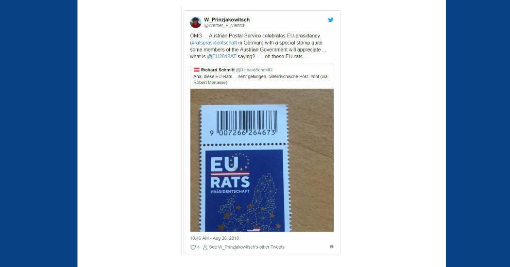 Briefmarke: EU-Rat Österreich