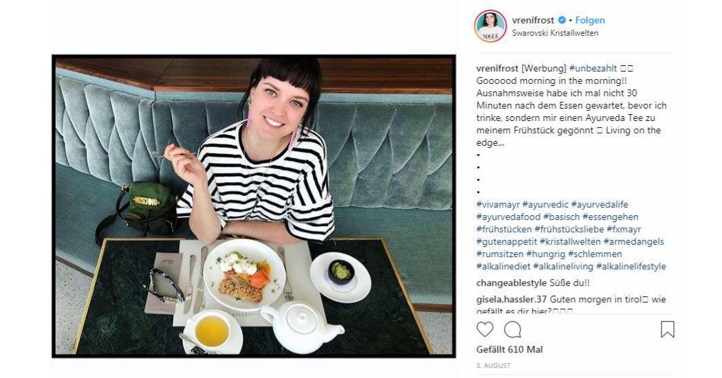 Instagram, Venri Frost