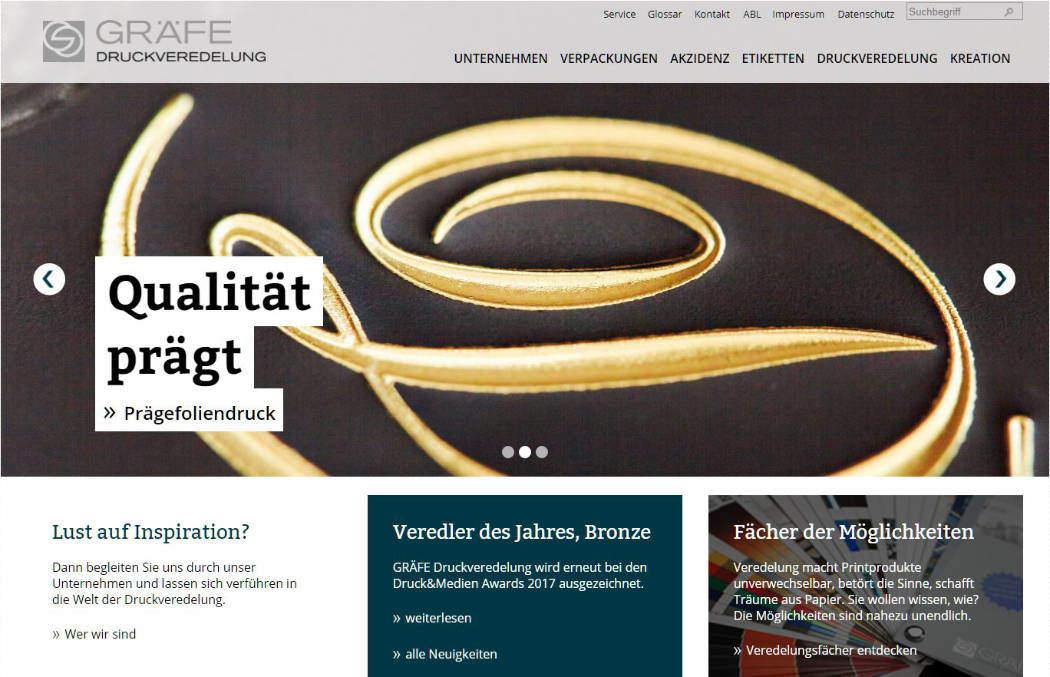 GRÄFE Druckveredelung Website