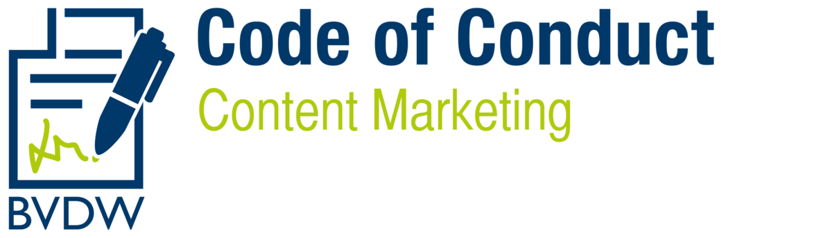Logo Code of Content Conduct Content-Marketing