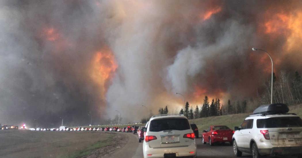 Waldbrände, Autobahn