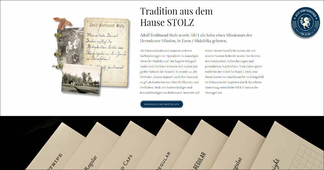 Website Stolz Druck