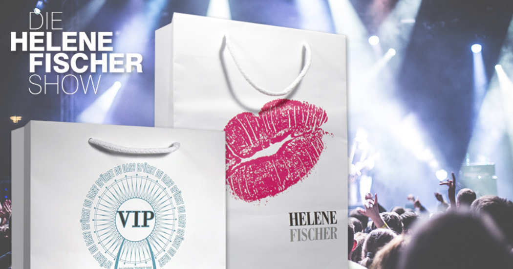 Goodie-Bags für Helene Fischer