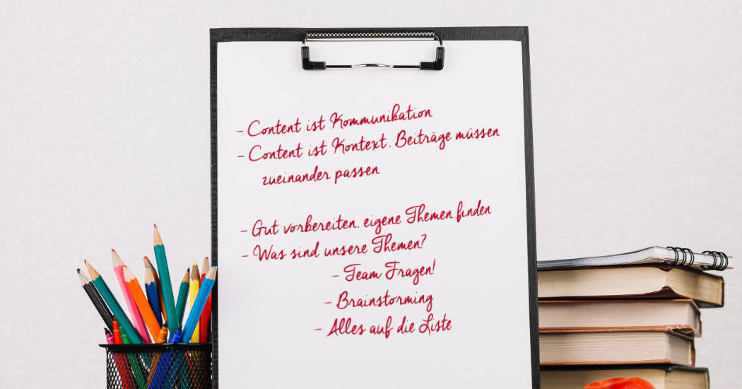 Checkliste Content-Marketing, Vorbereitung