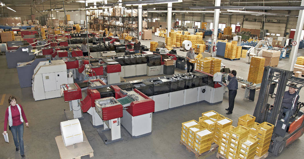 Produktionshalle Druckerei Drescher
