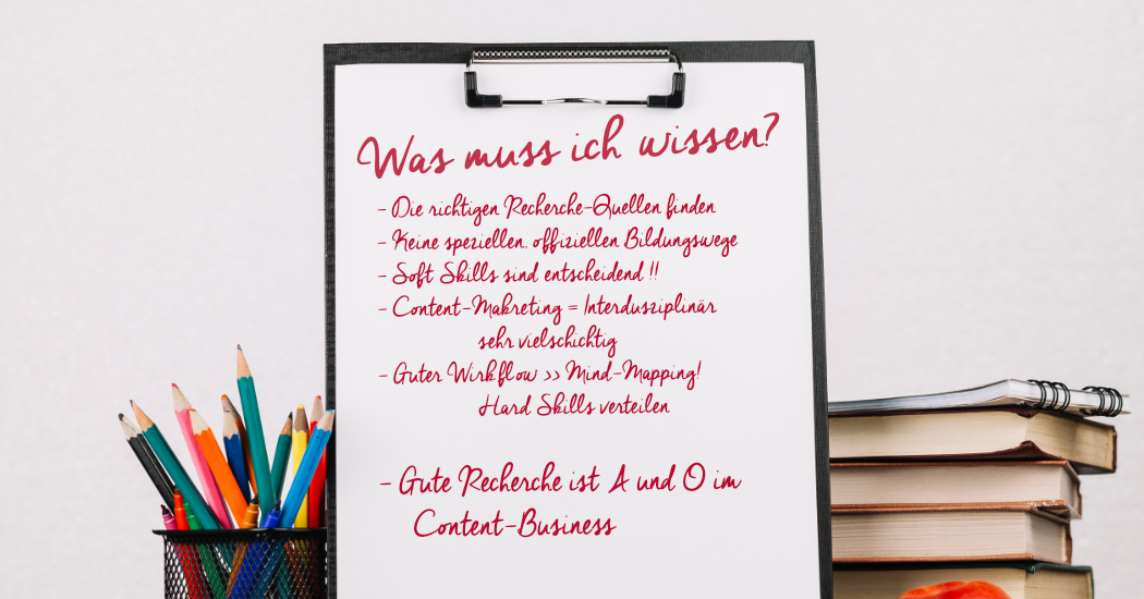 Notizen zur Bildung beim Content-Marketing