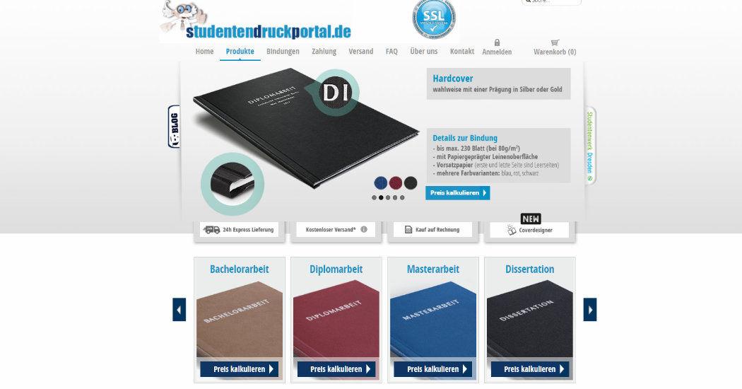 Screenshot studentendruckportal