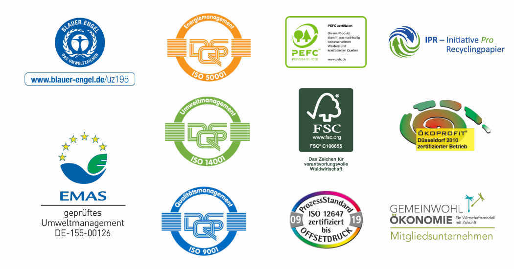Umweltlabels Druckereien