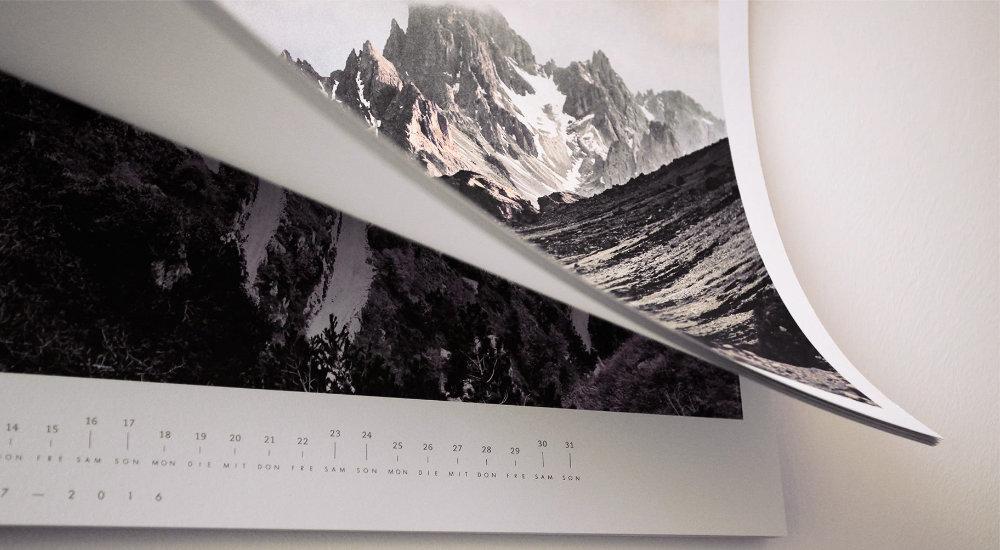 Großer Wandkalender, umweltfreundlich produziert
