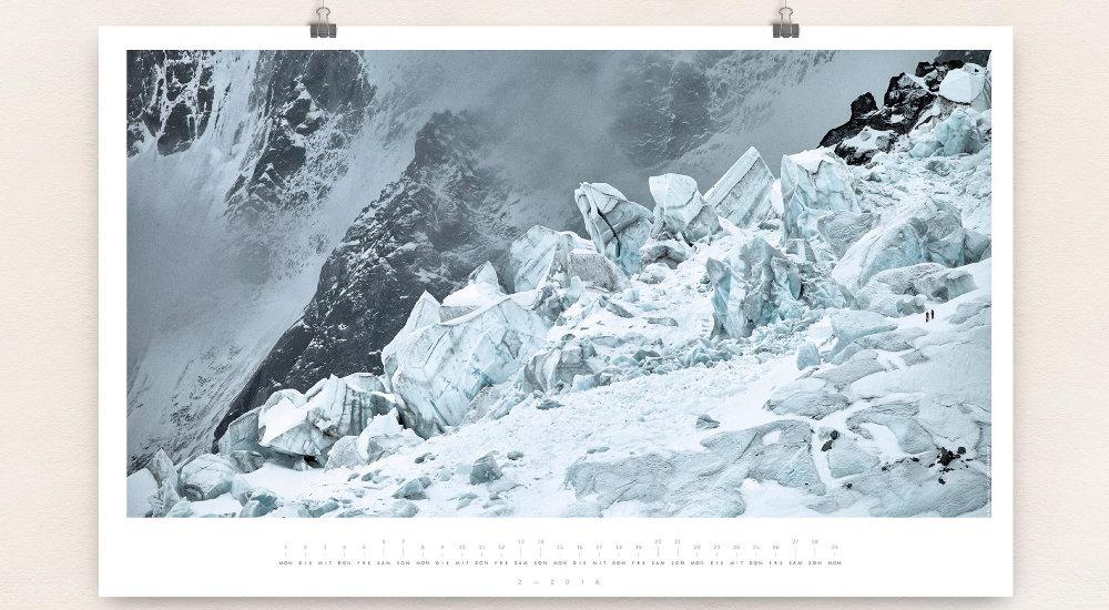 Nachhaltig gedruckter Wandkalender