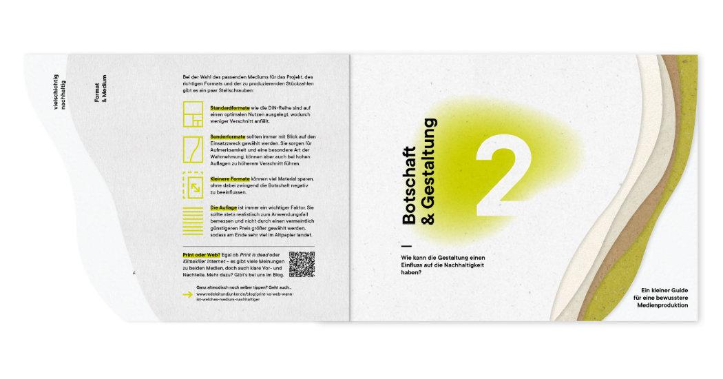 Vielschichtige Drucksache, nachhaltig bei Colour Connection produziert und von Redeleit und Junker gestaltet