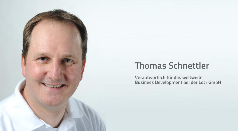Thomas Schnettler, Vertriebsleiter Locr GmbH